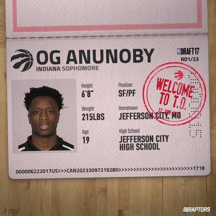 Keepin' it OG at 23.  Welcome to the Raps, @OAnunoby!  #WeTheNorth | #...