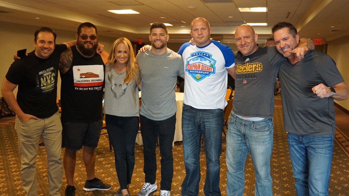 What a great day with my new @BellatorMMA family!! #BellatorNation #herewego <br>http://pic.twitter.com/ZRGoWV6BQT