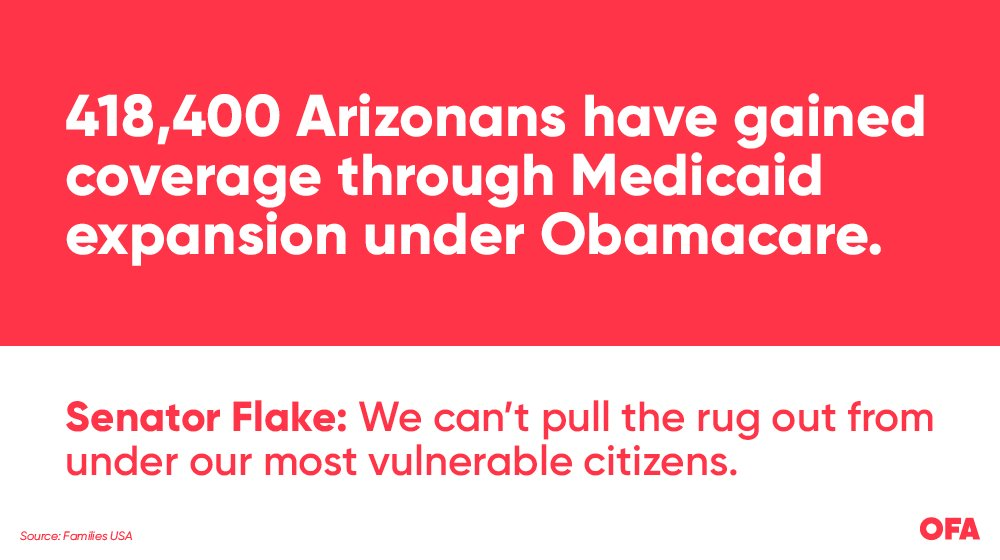 418,400 daughters, sons, uncles, aunts, brothers, sisters... @JeffFlake #ProtectOurCare &amp; #Medicaid. <br>http://pic.twitter.com/vcNaISenNL