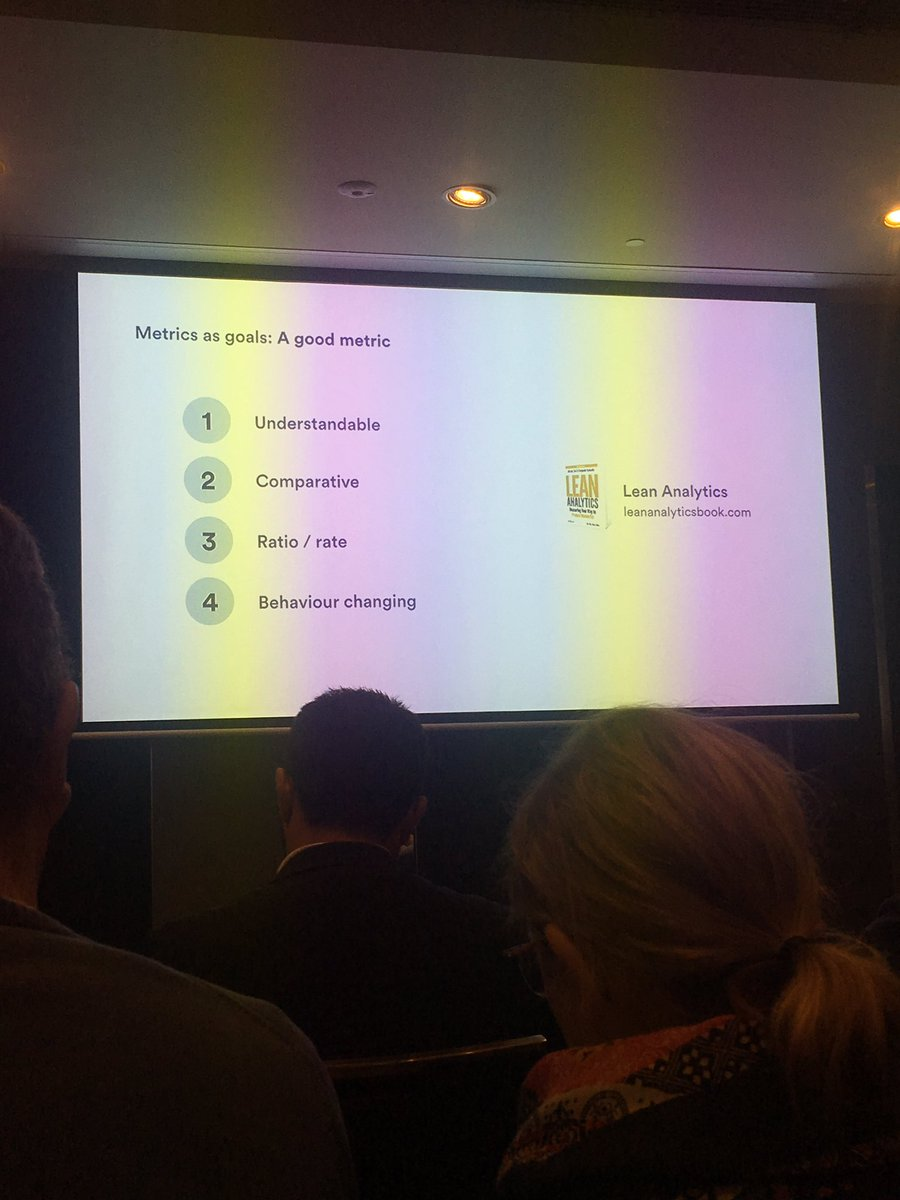 These are the characteristics of good metrics @sherifmansour is sharing the Arts of building roadmap #Agileaus #roadmap #metrics <br>http://pic.twitter.com/pCEqppidsB