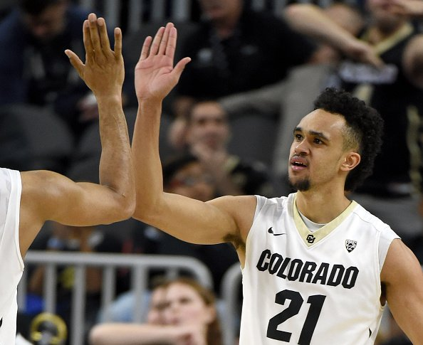 Derrick White goes 29th to @spurs.  It's the latest the 1st senior has...