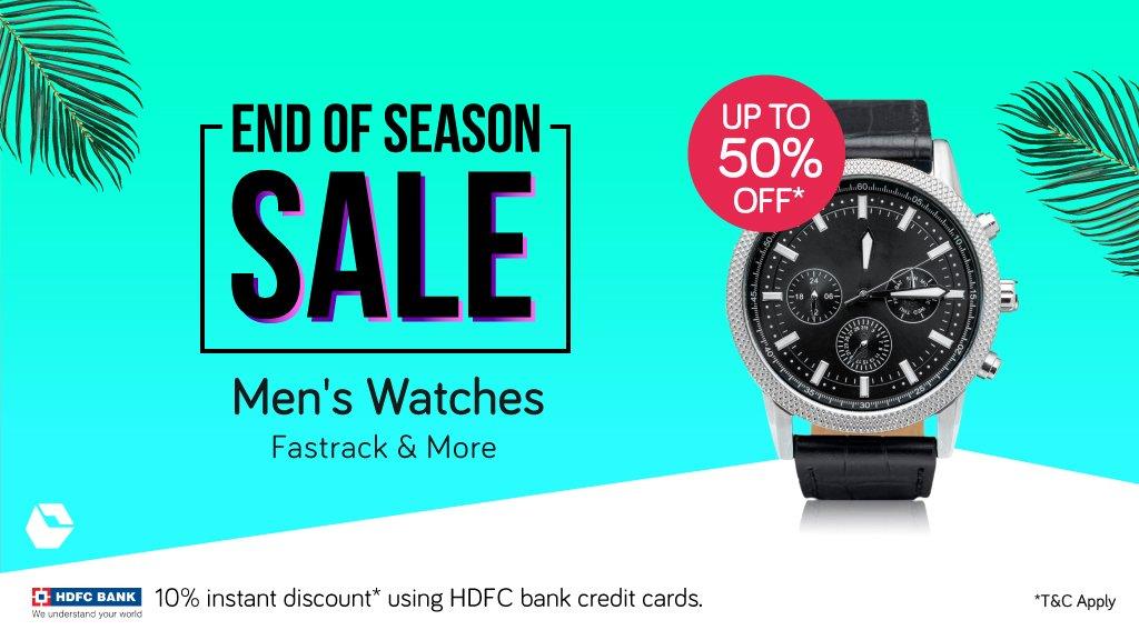 a5faedb5f3f Get up to 50% off on Men s  watches at Snapdeal s  EndOfSeason  Sale here   http   bit.ly SDWatchEOSS T C apply  Fashionpic.twitter.com JEqfo4yAms