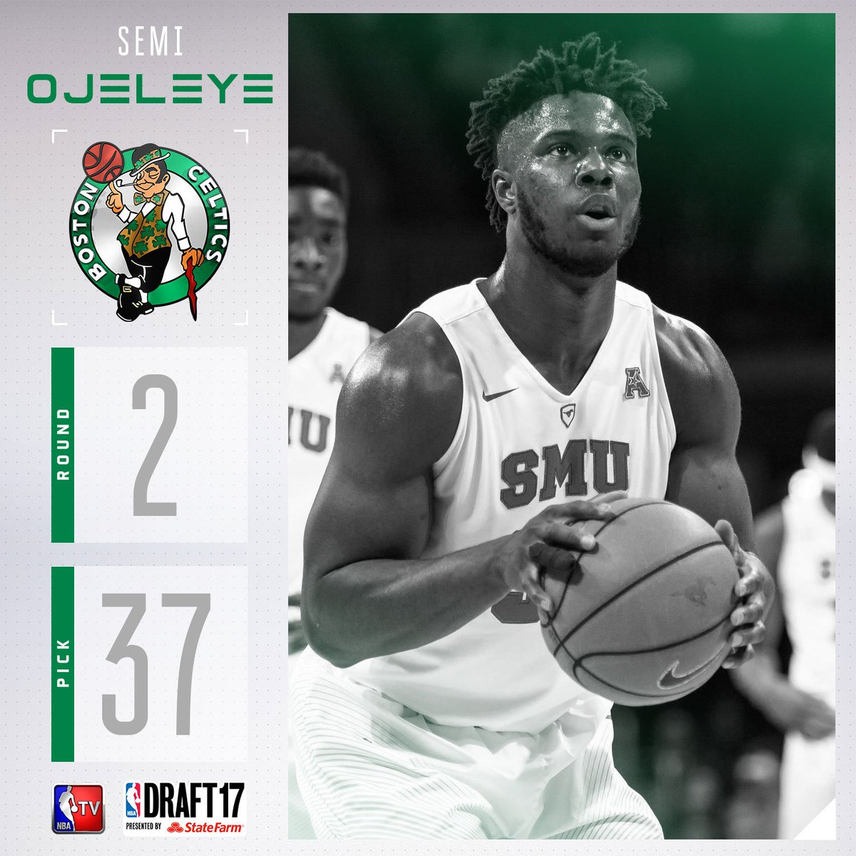 The @celtics select Semi Ojeleye with the #37 pick in the 2017 #NBADra...