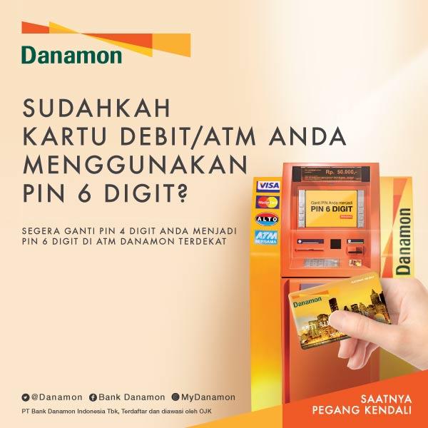 """Hello Danamon در توییتر """"Bagi Anda Nasabah pengguna kartu ATM/debit  Danamon, segera lakukan pengkinian pin kartu Anda dari 4 digit menjadi 6  digit (1/3)… https://t.co/jMLdqXiLvu"""""""