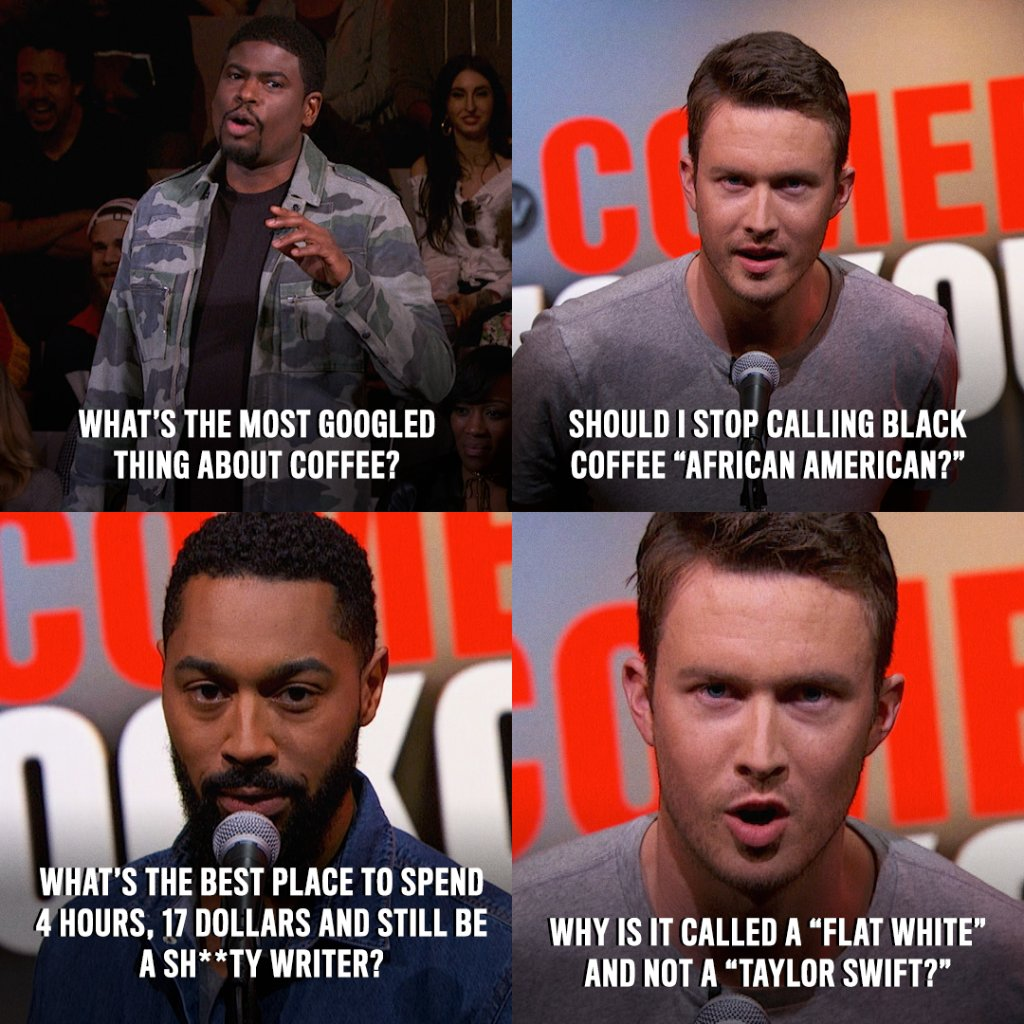 It takes a lot of caffeine to spit punchlines this fast. #ComedyKO htt...