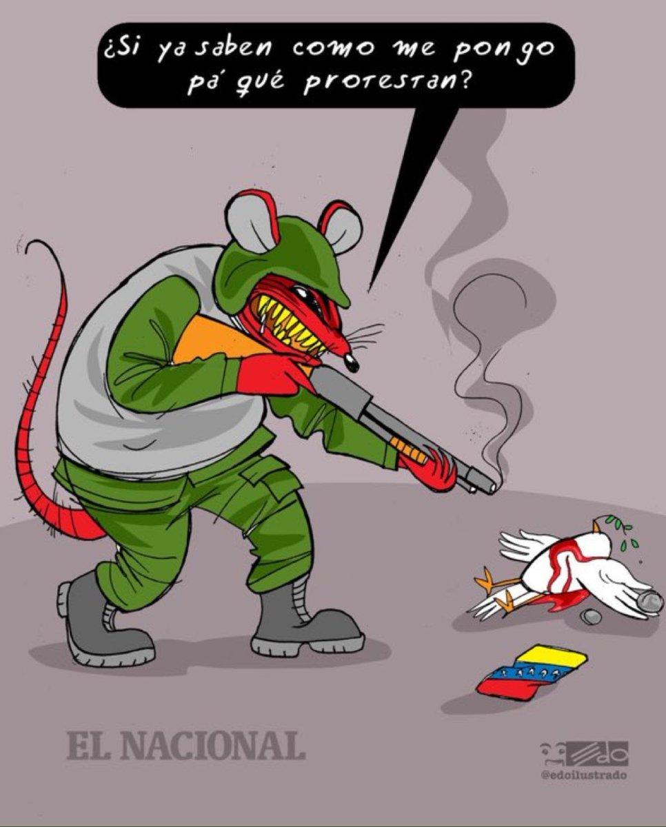 LA IMAGEN | La contundente caricatura de Edo sobre el vil asesinato de David Vallenilla en La Carlota este #22Jun