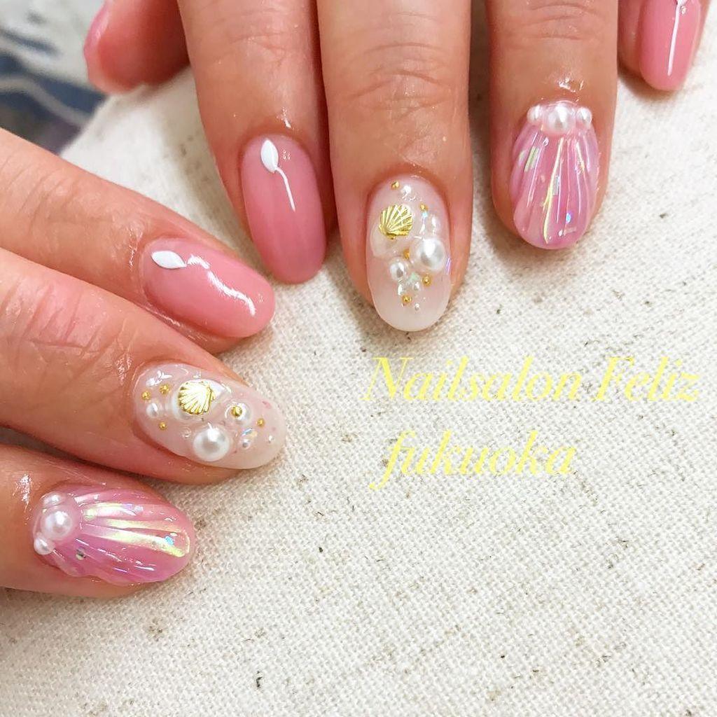 summer #nail #nailstagram #nailsalonfeliz #feliz #gelnails #paragel #summernails #fukuoka #fashion #福岡 #薬院 #薬院ネイル #パラジェル #人魚の鱗ネイル<br>http://pic.twitter.com/XSkA8LDbkk