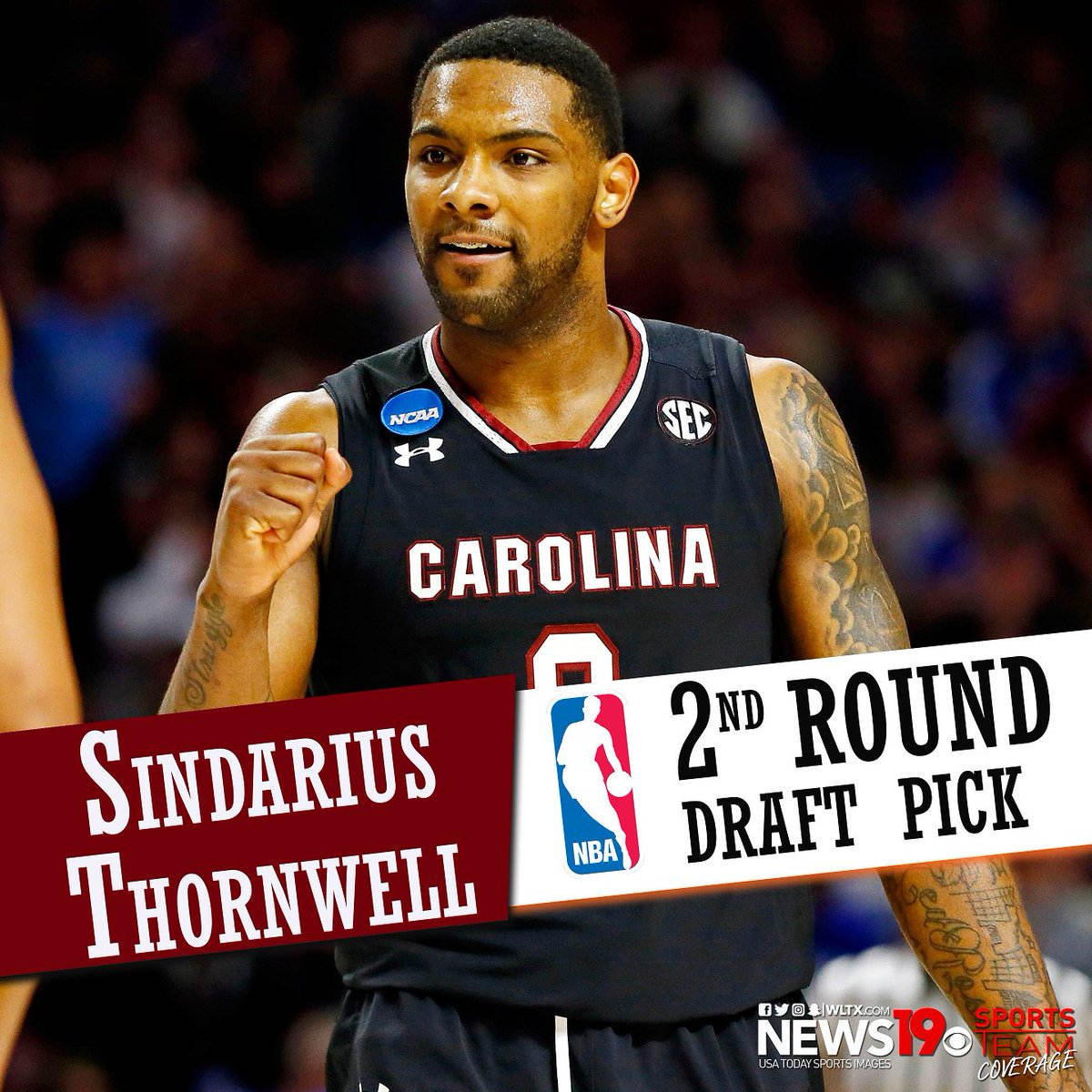 #BREAKING: USC's Sindarius Thornwell drafted by the Milwaukee Bucks wi...