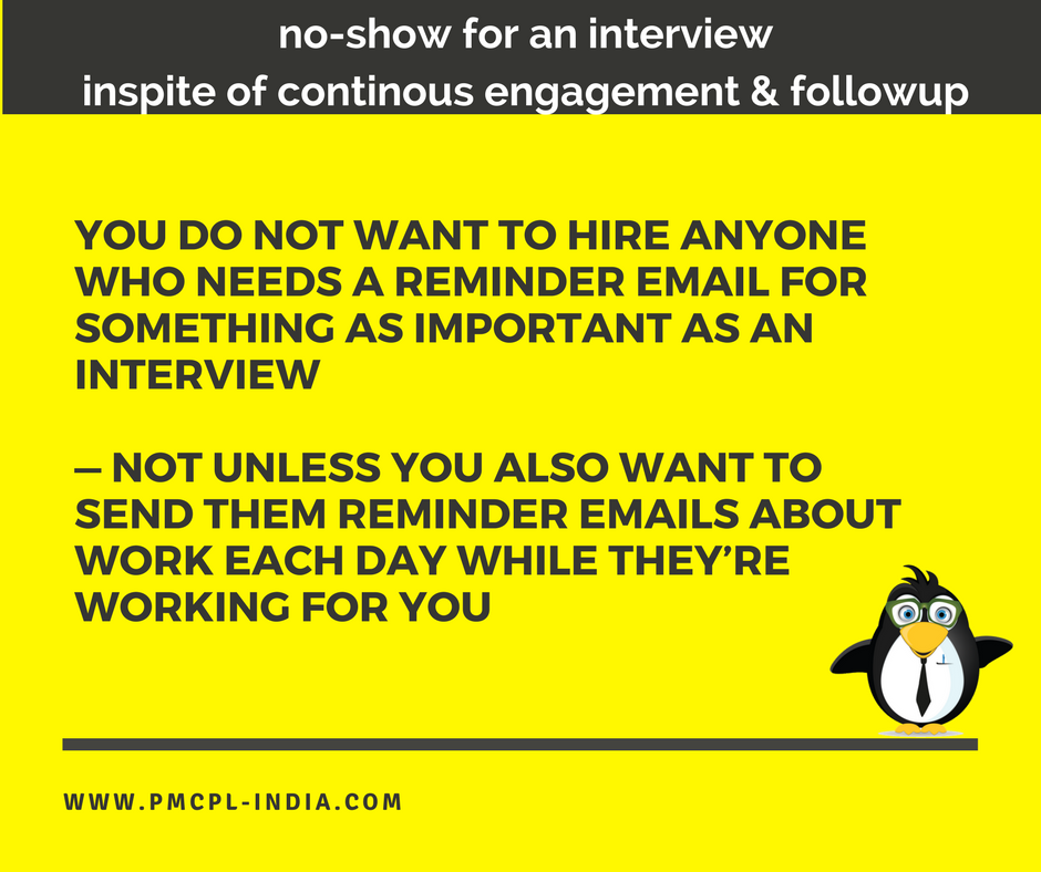 #interview #hiring YOU DO NOT WANT TO HIRE ANYONE WHO NEEDS A REMINDER EMAIL FOR SOMETHING AS IMPORTANT AS AN INTERVIEW<br>http://pic.twitter.com/MkTurPFMiP