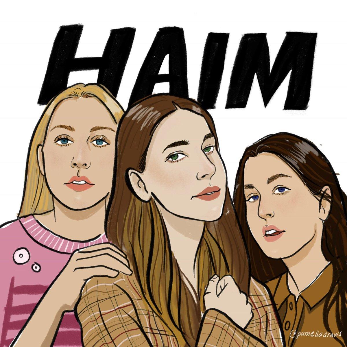 I made a little drawing of these badasses @HAIMtheband @jizziemcguire @babyhaim  #Haim <br>http://pic.twitter.com/Mxm7S5vFrf