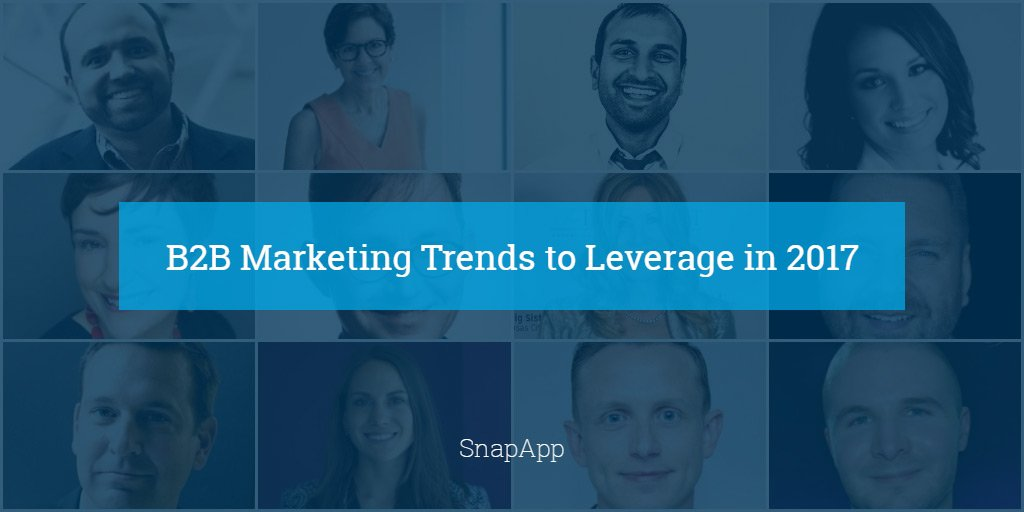 [PROUD 2B FEATURED!] 73 Experts Reveal B2B #Marketing #Trends to Leverage in 2017 (by @RobbieRichMktg via @Snap_App)  http:// buff.ly/2h0GIHZ  &nbsp;  <br>http://pic.twitter.com/Q7FYbq9vvC