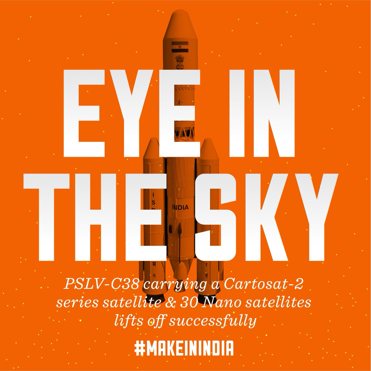Congratulations Team @isro on your #PSLVC38 launch! #MakeInIndia https...