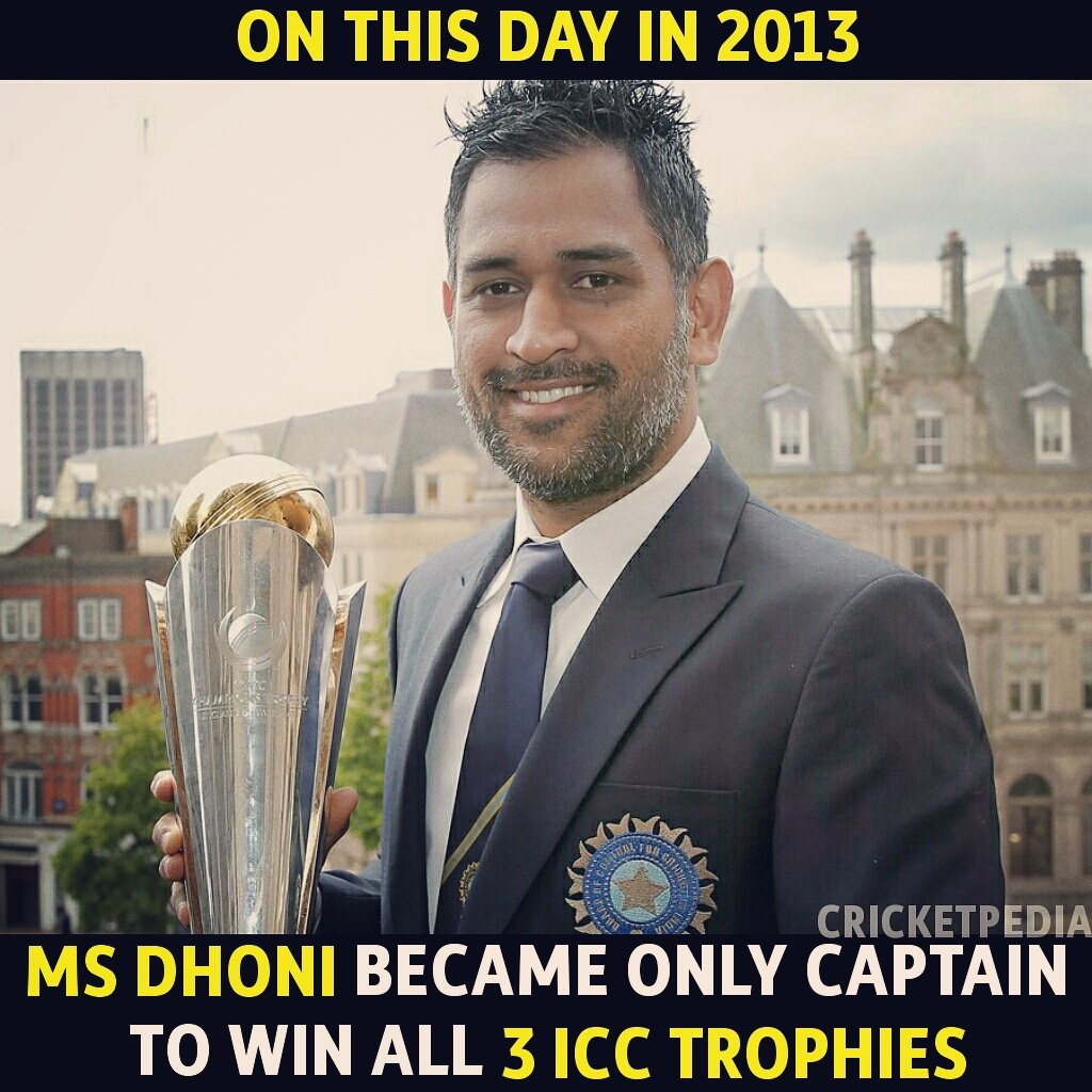 #OnThisDay in 2013, #MSDhoni added #ChampionsTrophy in his Collection.  Retweet your favourite memory!  #Dhoni #India #ViratKohli #Virat<br>http://pic.twitter.com/r1zTaC43CJ