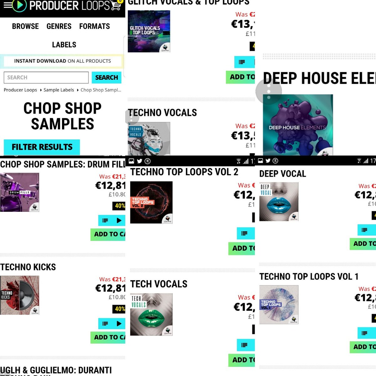 Summer sale 40% off on Producer Loops  https://www. producerloops.com/Chop-Shop-Samp les/ &nbsp; …  #deephouse #housemusic #soulfulhouse #techhouse #techno #djs #producers #club<br>http://pic.twitter.com/AaA4JjH4Ba