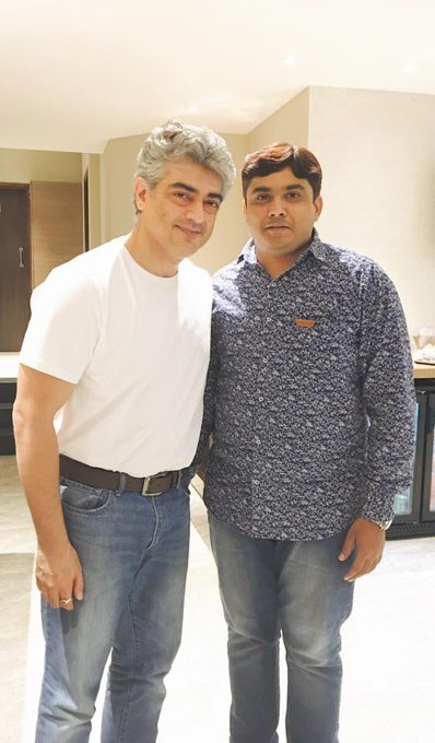 Latest Picture of #Thala #Ajith. Happy Weekend. #Vivegam #Surviva