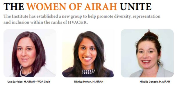 Happy Women in Engineering Day! Read about Women of AIRAH - supporting women in #HVACR #WomenInSTEM #IWED17  http:// bit.ly/2t0vEo1  &nbsp;  <br>http://pic.twitter.com/Tc044QR5B9