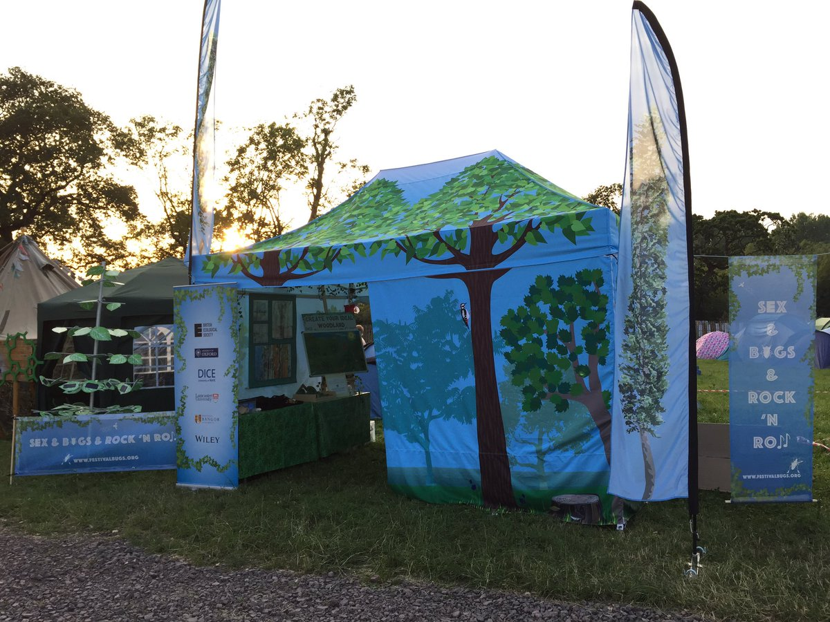 The @GlastoFest stall after my chat with @GeorgeyTonight - Almost ready for @BESroadies to welcome all the #festivalbugs arriving today <br>http://pic.twitter.com/3LGk4kx3P8