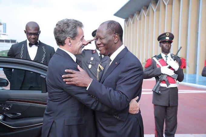 J'ai reçu mon ami @NicolasSarkozy à l'occasion de son passage en Côte d'Ivoire