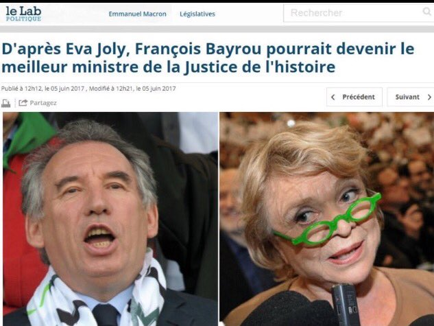 Une fois de plus, Eva Joly a démontré son flair politique. #Bayrou