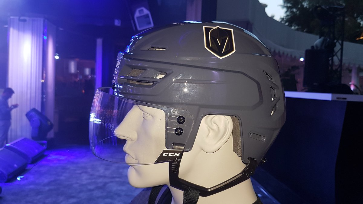 chris creamer on twitter a look at the grey helmet for the vegas