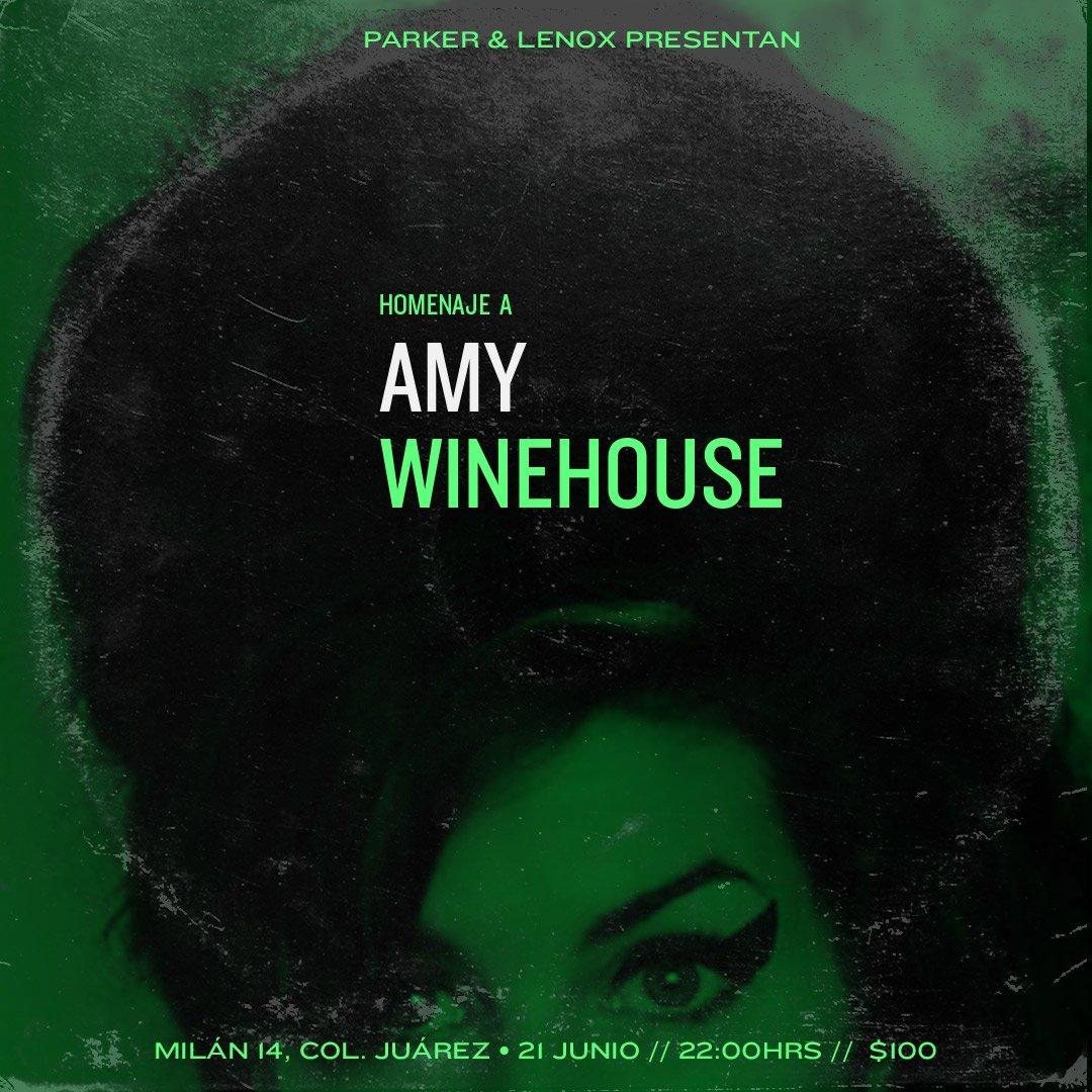 No te pierdas el #homenaje a #AmyWinehouse este miércoles 21 en Parker & Lenox Reserva llamando al 5578933140 de 1 a 7 pm #Jazz #LaJuárez https://t.co/llgn5aAqfq