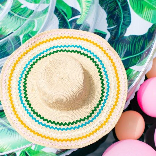 DIY Ric Rack Summer Hat