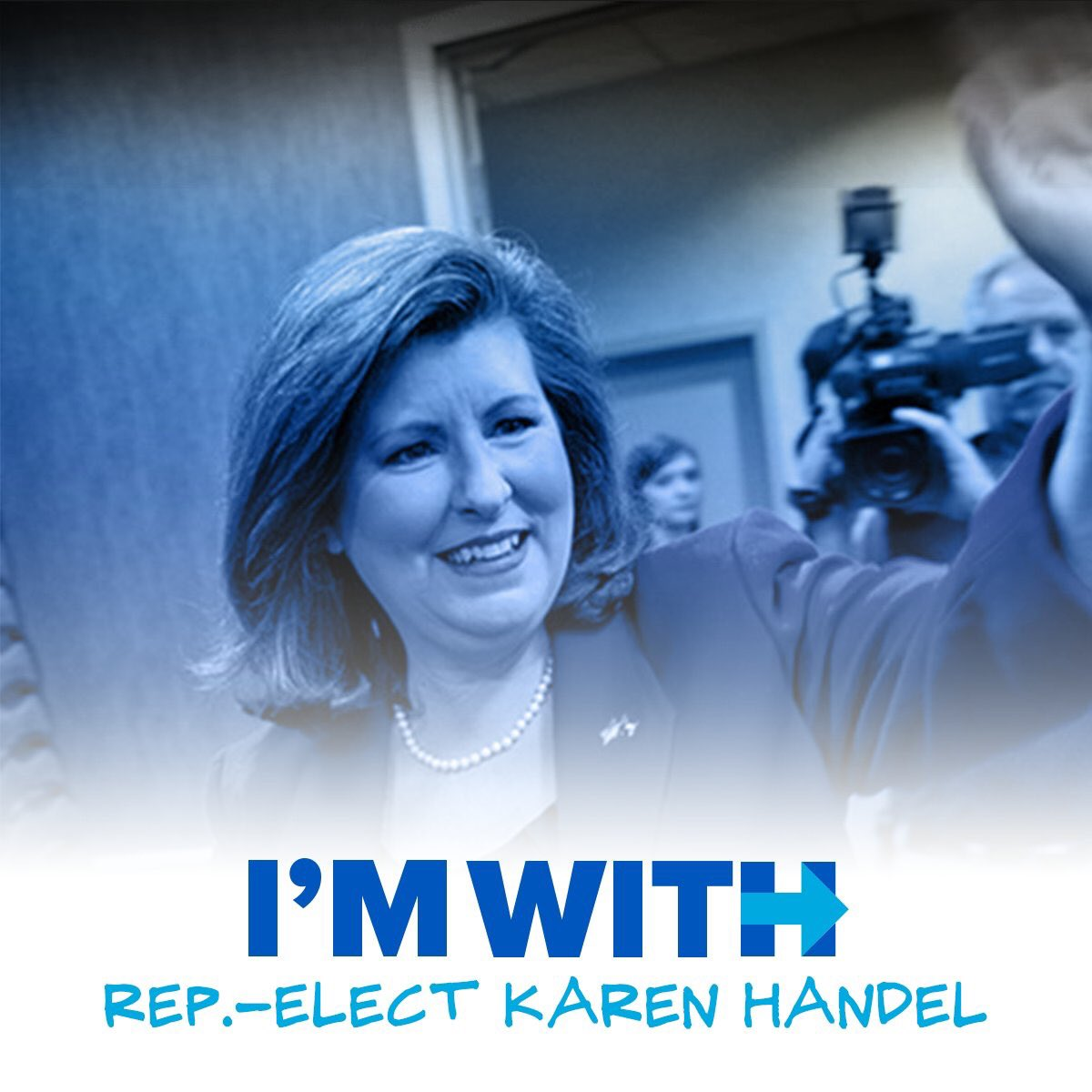Congratulations, @karenhandel! #ImWithHer (&amp; thousands of other strong conservative females today and every day) <br>http://pic.twitter.com/sUOT9j7ZSq