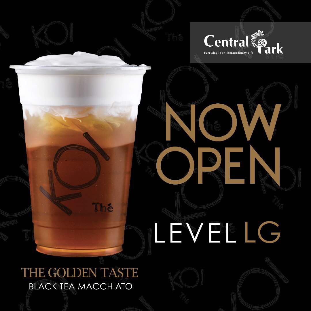 """Central Park Mall On Twitter: """"NOW OPEN! KOI Cafe 'Keeps"""