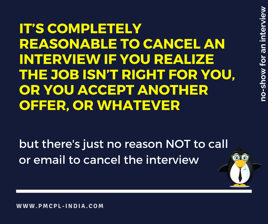 #interview #hiring  IT'S COMPLETELY REASONABLE TO CANCEL AN INTERVIEW IF YOU REALIZE THE JOB ISN'T RIGHT FOR YOU,OR YOU ACCEPT ANOTHER OFFER<br>http://pic.twitter.com/8kSRye6H90