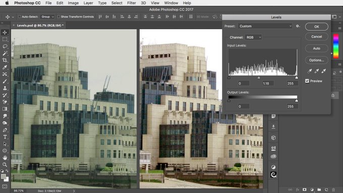 How to use Photoshop's Levels adjustment