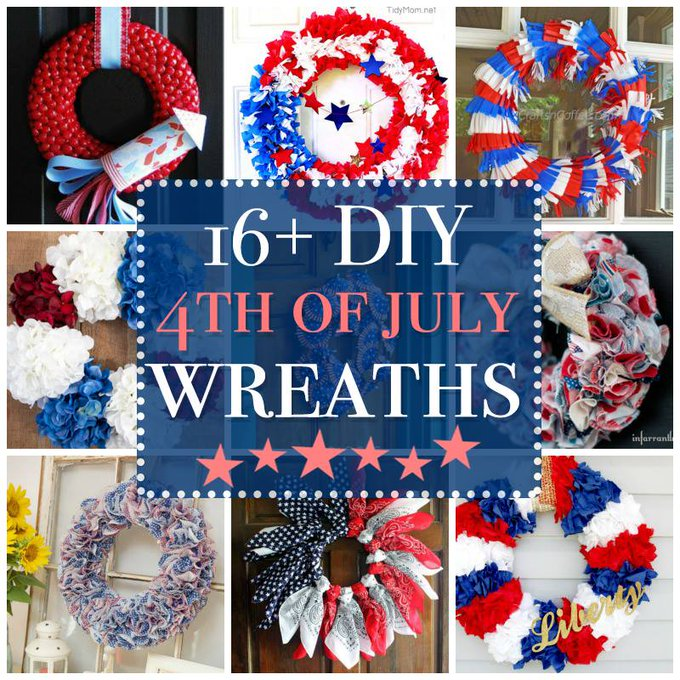 July 4th Wreaths: a DIY collection of 16+ creative patriotic wreaths