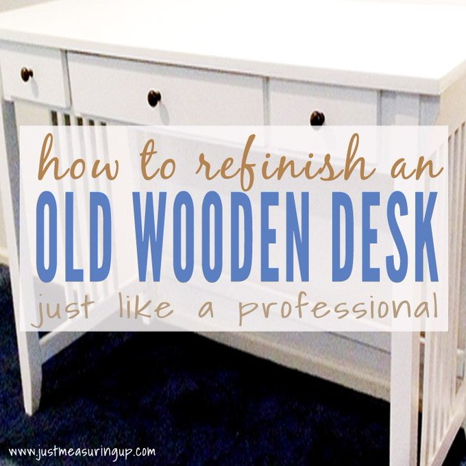 Painting a Wooden Desk Like a Professional