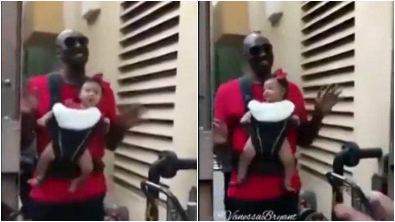 【影片】這樣的科比你見過嗎?變身超級奶爸 又唱又跳哄女兒
