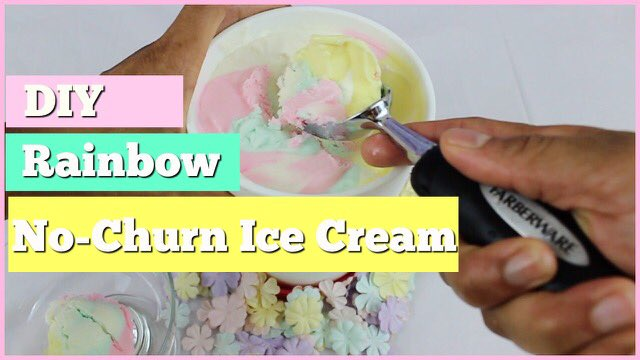 Rainbow No-Churn Ice Cream
