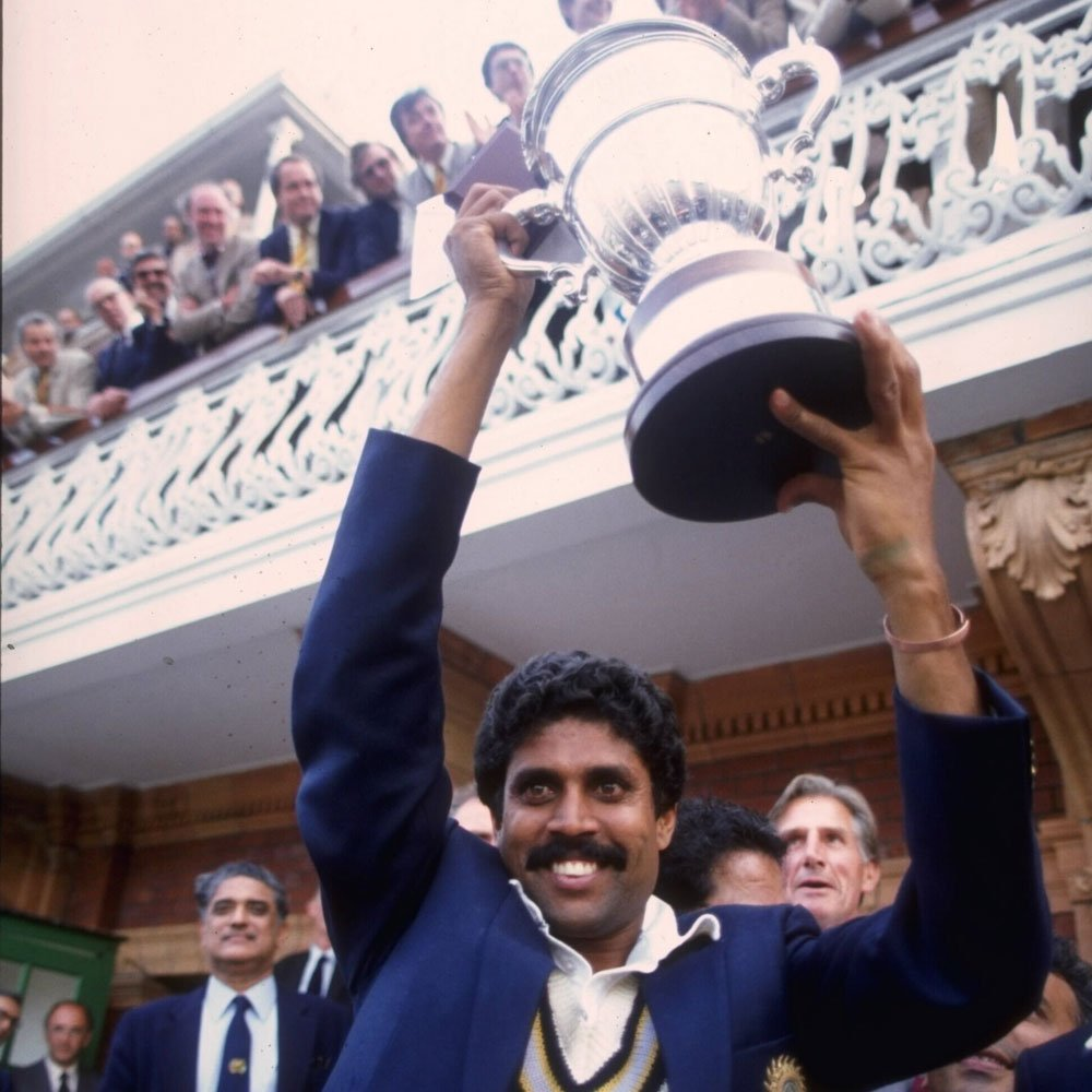 #OnThisDay in 1983 Kapil Dev lifted the World Cup here after India upset the West Indies in a thrilling game 🏆