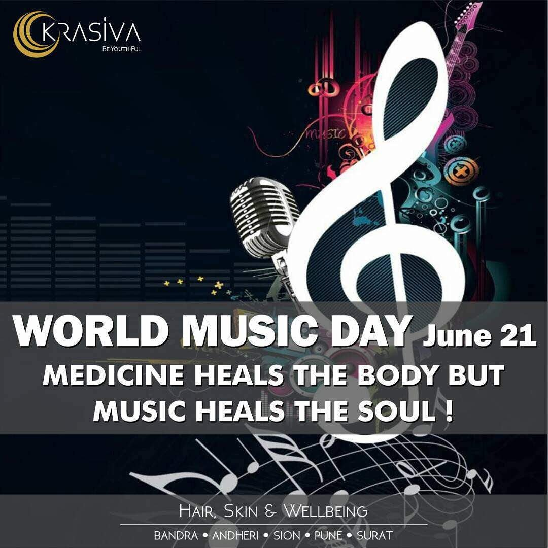What Kind Of A Place Would The World Be Without Music   #WorldMusicDay #Krasiva  #Wellbeing #Dermatologist #Heals #WednesdayWisdom #India<br>http://pic.twitter.com/OCCR1yo2Ua