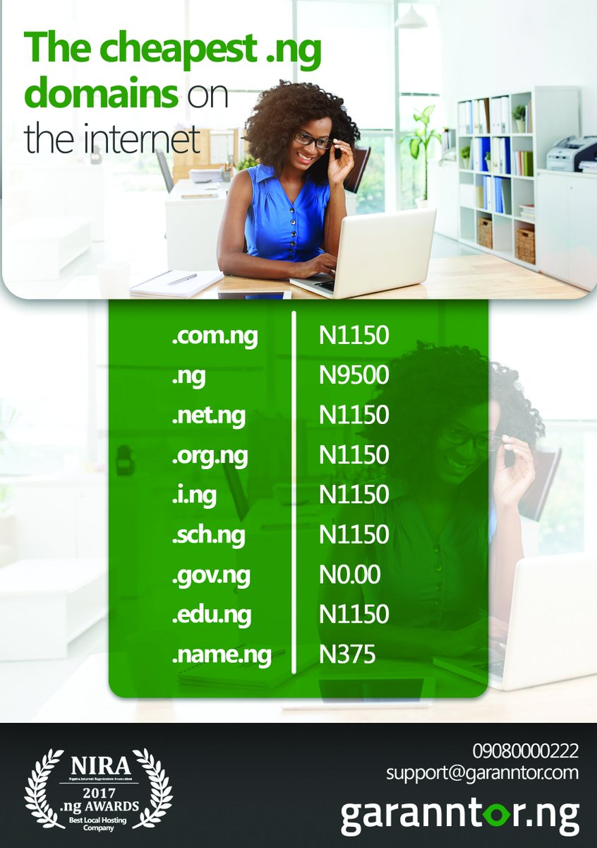 Get the cheapest .NG #domains on the internet for as low as ₦375! Click here  https://www. garanntor.ng/register-domai n/ &nbsp; …  #domain #website #domainname #Hosting<br>http://pic.twitter.com/sXE1QalbFD