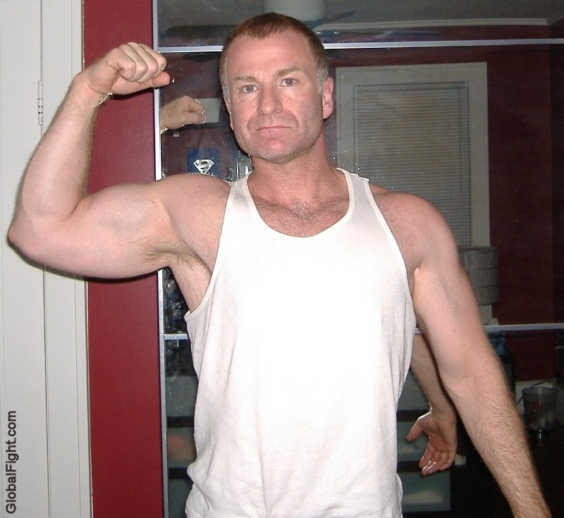 My country bud from  http:// GLOBALFIGHT.com  &nbsp;   #silverdaddy #flexing #armpits #polarbear #silverfox #tanktop #daddy #handsome #men #country #tx<br>http://pic.twitter.com/OrZG6nqC9M