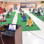Image for the Tweet beginning: #YogaDay was celebrated with enthusiasm