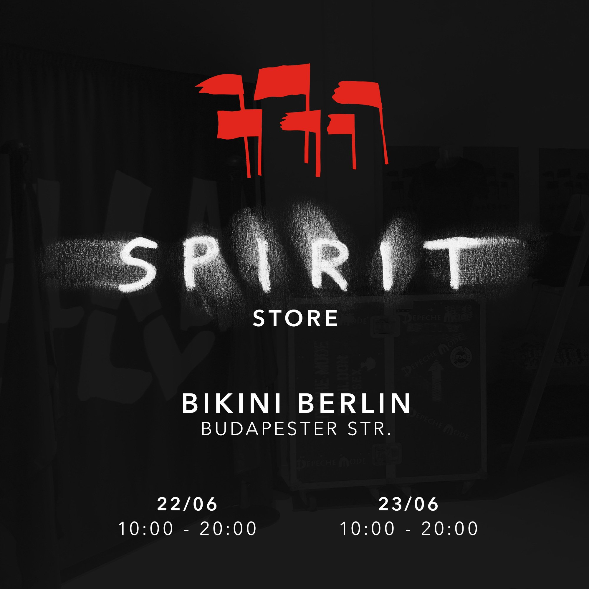 The next Spirit Store will pop-up in Berlin. Come visit tomorrow starting at 10am... https://t.co/FM3PDU7sax