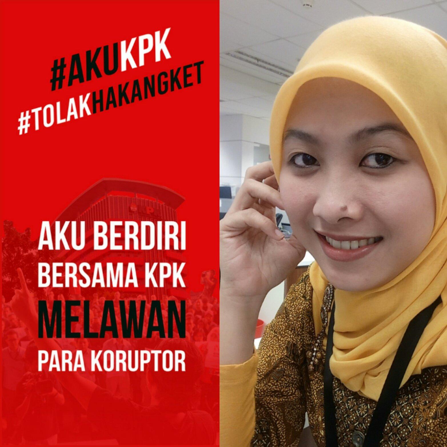 "tata khoiriyah on Twitter: ""I stand with KPK. #akuKPK #TolakHakAngket… """