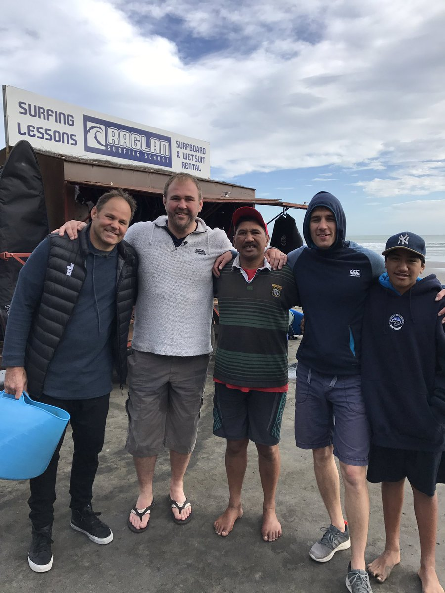 First attempt at surfing 🏄 today. Thanks to the guys at Raglan for the...