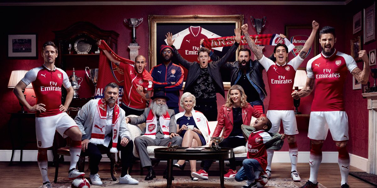 We are THE @Arsenal. We are THE Gooners. THE 2017/18 Home kit is here. #ForeverArsenal