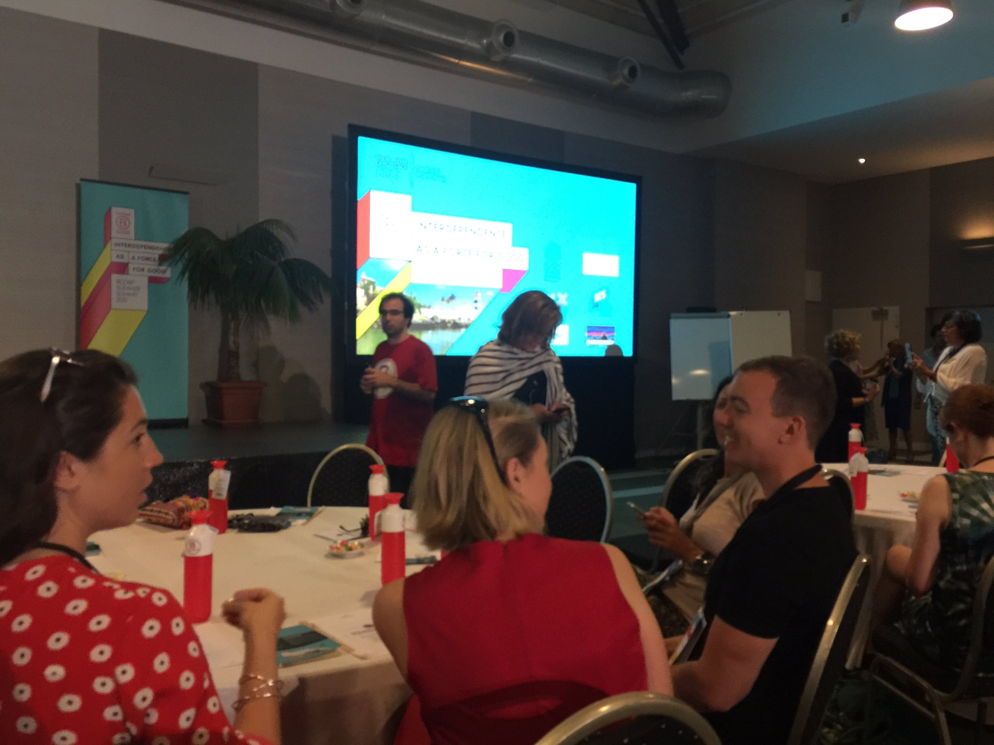Just about to begin #BCORPSUMMIT 2 days of work & fun @BCorpSpain @BCorpEurope https://t.co/U3Nivcp885