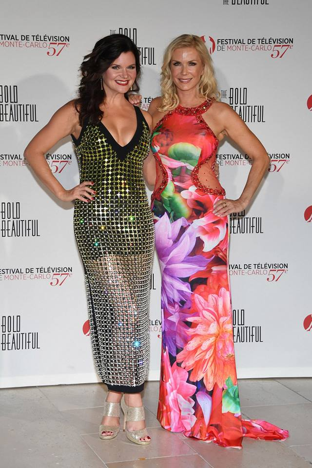 Two pretty ladies from #BoldandBeautiful @BBheathertom &amp; @KatherineKellyL during the 57th Monte Carlo TV Festival @festivaltvmc #montecarlo <br>http://pic.twitter.com/GeVqi5ZVmU