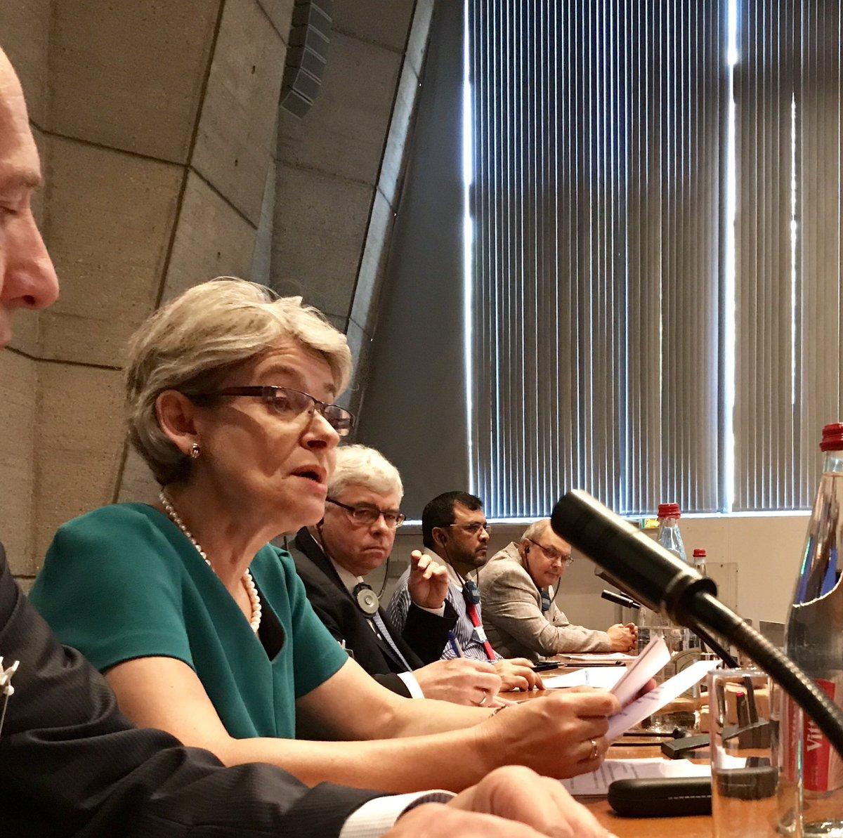 DG @unesco @IrinaBokova welcomes delegates to @IocUnesco #IOC29, mentions key role of IOC in #SDG14 #COP21, capacity building, tech transfer <br>http://pic.twitter.com/VpgVDkptIb