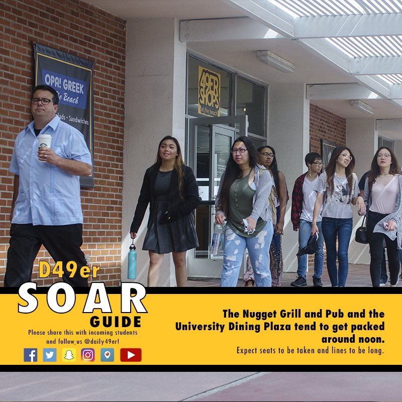 SOAR Guide: Expect the University Dining Plaza and Nugget Grill and Pub to be busy around noon when school starts. #CSULB #CSULBSOAR #Food https://t.co/jIAx5r52kI
