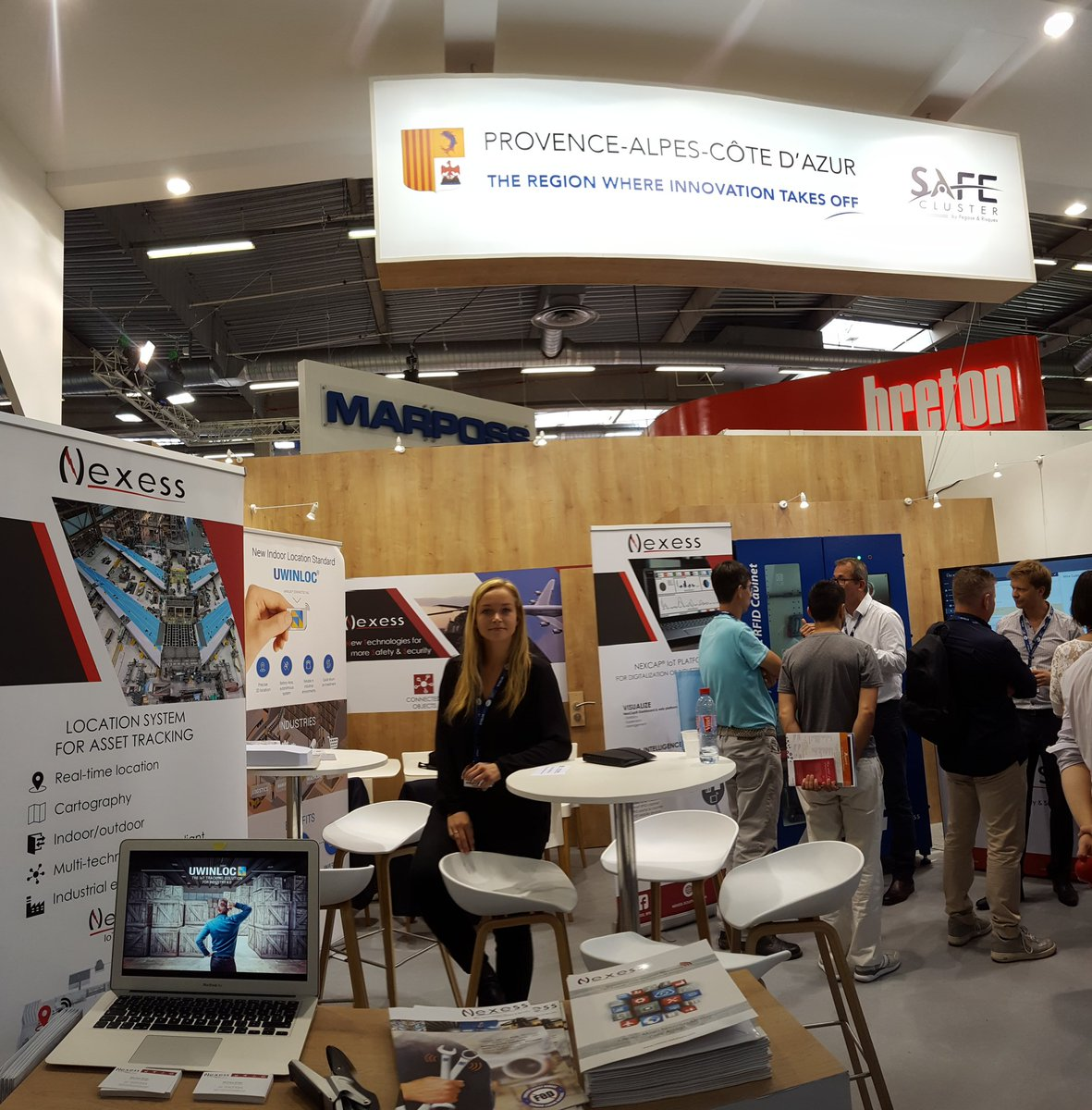 Day 3 at #Bourget2017! Find out about indoor tool tracking with us and @NEXESS_RFID. #Futurebypaca &amp; #Occitanie regions of #innovation !<br>http://pic.twitter.com/JIrp87ONCq