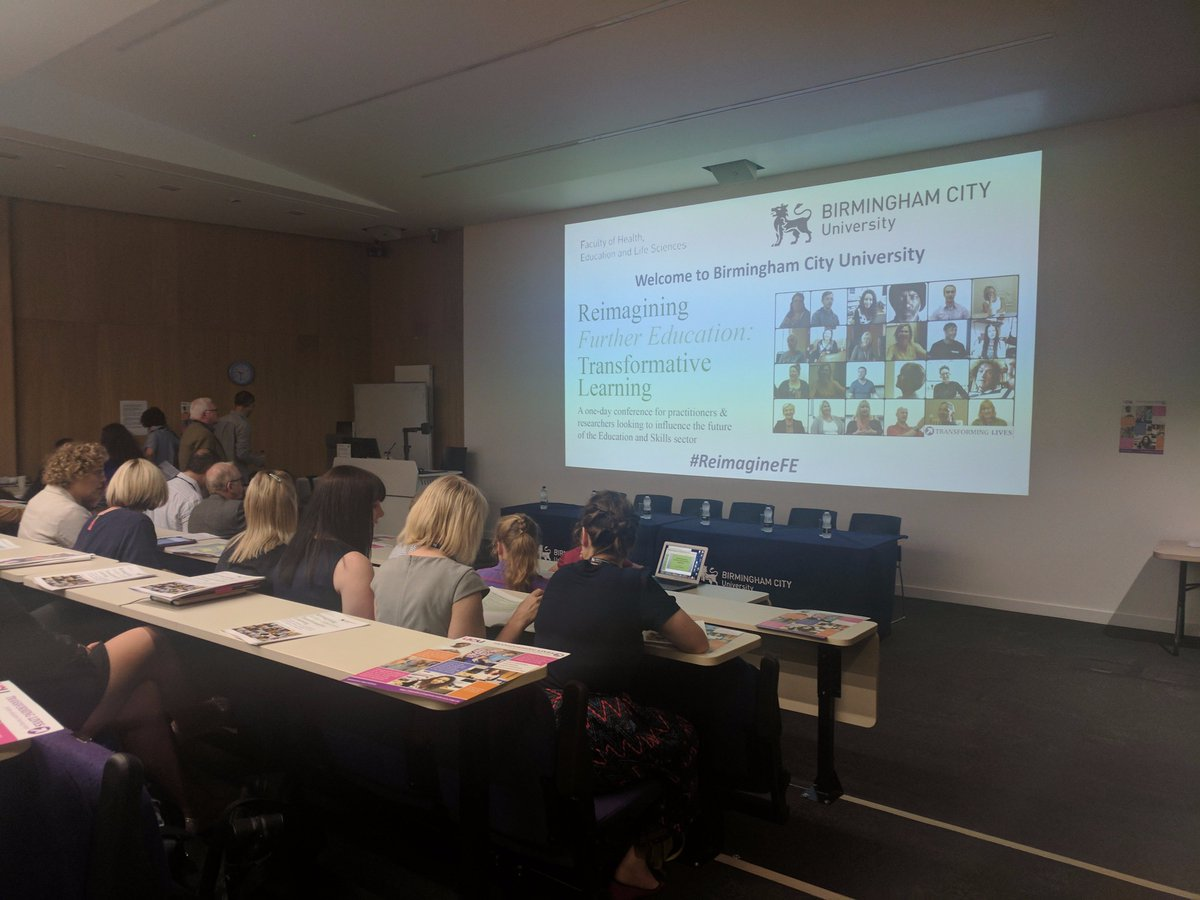 Packed house @CSPACE_BCU for #reimaginefe - looking forward to hearing from #FE champions beginning with @vicky_duckworth &amp; @R0b5m1th<br>http://pic.twitter.com/59MIq2HCnJ