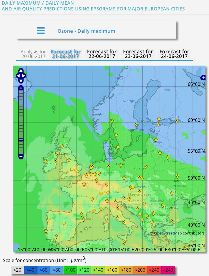 Very high #ozone #pollution predicted across much of #Europe today   http:// macc-raq-op.meteo.fr/index.php  &nbsp;   @CopernicusECMWF #Atmosphere Service <br>http://pic.twitter.com/ijbYJb7ToP
